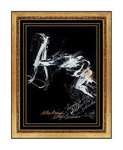 LeRoy Neiman Original Boxing Oil Painting Signed Muhammad Ali Rare Artwork SBO