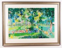 Leroy Neiman Signed Limited US Open Oakmont Golf Art Painting Best Offer
