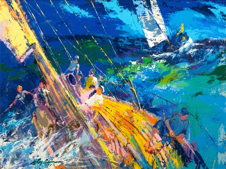 Leroy Neiman Ocean Sailing Painting For Sale At 1stdibs
