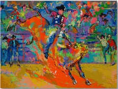 Adriano, World Champion Bull Rider - Limited Edition Lithograph by LeRoy Neiman