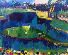 Big Time Golf, Suite of 4 framed serigraph 1992 by Leroy Neiman
