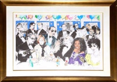 Celebrity Night at Spago - Limited Edition Serigraph by LeRoy Neiman