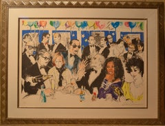 Celebrity Night at The Spago by LeRoy Neiman - Limited Edition
