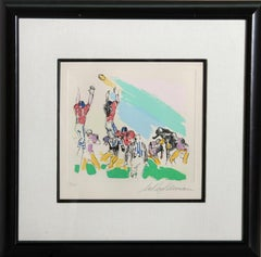 Field Goal, Football Color Etching by LeRoy Neiman 1972