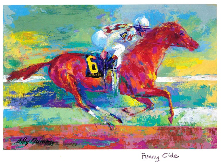 Leroy Neiman Print - Funny Cide - Limited Edition - Hand signed and numbered by LeRoy Neiman