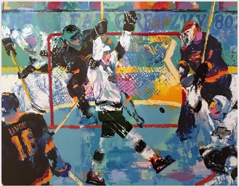 Leroy Neiman Print - Gretzky's Goal - Limited Edition - Hand signed and numbered by LeRoy Neiman