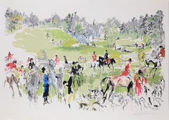 Hunter Trials, Lithograph by LeRoy Neiman