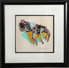Interference, Football Color Etching by LeRoy Neiman 1972