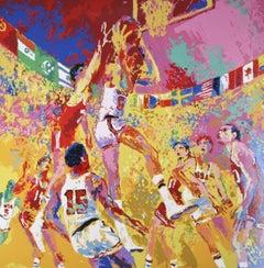 "Leroy Neiman ""Basketball"" Signed Artist's Proof AP Silkscreen 1972 w/ COA"