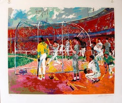 """Leroy Neiman """"Bay Area Baseball"""" hand signed and numbered serigraph"""
