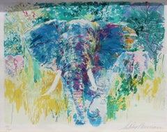 Leroy Neiman Bull Elephant FRAMED H/S & Numbered Serigraph Publisher COA