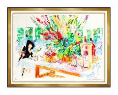 LeRoy Neiman California Cuisine Original Color Serigraph Large Signed Bar Cafe