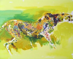 Leroy Neiman Cheetah FRAMED H/S & Numbered Serigraph Publisher COA
