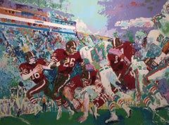 """LEROY NEIMAN Classic """"Superbowl XIX"""" 49ers vs Dolphins serigraph signed Numbered"""