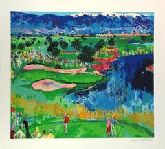 "Leroy Neiman ""Cove at Vintage"" Golf Course H/S RARE #1/375 Serigraph"