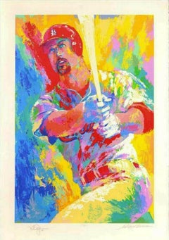 "LeRoy Neiman Dble Sign/No. ""Mark McGwire"" serigraph"