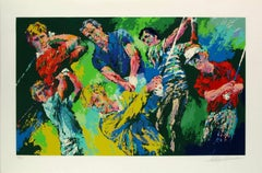 "Leroy Neiman ""Golf Winners"" Hand signed and numbered serigraph"