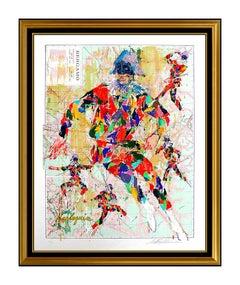 LeRoy NEIMAN Harlequin Bergamo Large Color Serigraph Original Hand Signed Art