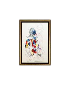 LeRoy NEIMAN Harlequin Color Serigraph Original Hand Signed Large Modern Artwork