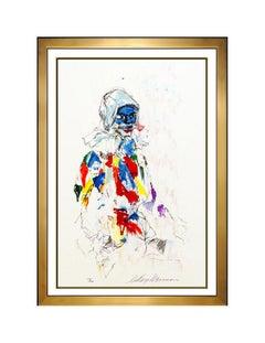 LeRoy Neiman Harlequin Original Serigraph Hand Signed Portrait Large Framed Art