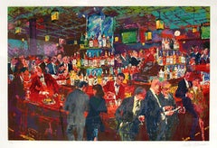 """Leroy Neiman """"Harry's Wall Street Bar"""" Hand Signed and numbered Serigraph"""