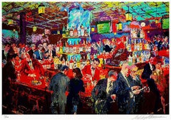 "Leroy Neiman ""Harry's Wall Street Bar"" Hand Signed # L/E Serigraph"