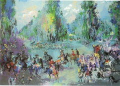 "Leroy Neiman ""Hunt Rendezvous"" serigraph 1992 signed and numbered"