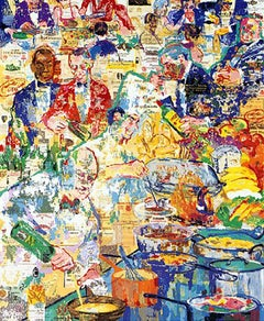 Leroy Neiman International Cuisine Hand Signed & # Serigraph