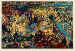 Leroy Neiman Introduction of the Champions Madison Square Garden. serigraph S/N