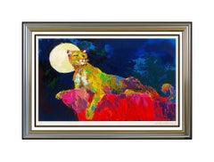 LeRoy Neiman Large Color Serigraph Big Cat Cougar Hand Signed Modern Animal Art