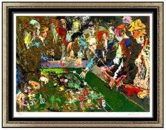 LeRoy Neiman Large Color Serigraph Las Vegas Craps Signed Casino Gambling Art