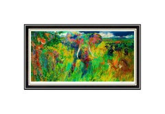 LeRoy Neiman Large Color Serigraph The Big Five Animal Elephant Tiger Signed Art