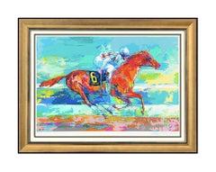 LeRoy Neiman Large Original Serigraph Funny Cide Hand Signed Horse Racing Art