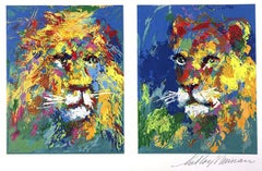"Leroy Neiman ""Lion and Lioness"" Exotic Animal Hand Signed/# serigraph"