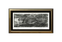 LeRoy Neiman Midnight Cheetah Original Etching Hand Signed Framed Big Cat Art
