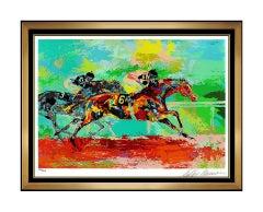 LeRoy Neiman Original Affirmed Serigraph Hand Signed Horse Racing Artwork SBO