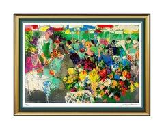 LeRoy NEIMAN Original Color Serigraph Bistro Garden Hand Signed Large Artwork