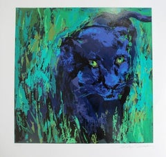 """Leroy Neiman """"Portrait of Black Panther"""" hand signed and numbered serigraph"""