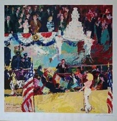 """Leroy Neiman """"President's Birthday Party"""" Hand signed and numbered serigraph"""