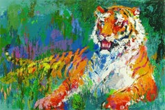 Leroy Neiman Resting Tiger Hand Signed & Numbered Serigraph