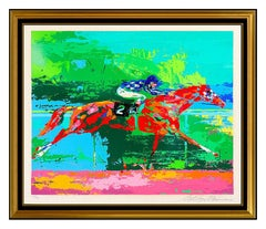 LeRoy Neiman Secretariat Big Red Serigraph Hand Signed Sports Horse Racing Art