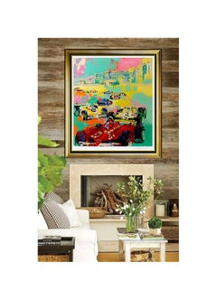 LeRoy NEIMAN Serigraph Original Large Grand Prix F1 Racing Signed Color Artwork