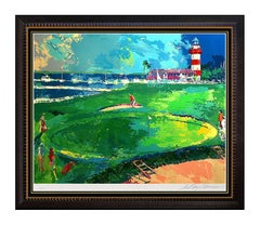 LeRoy NEIMAN Serigraph Rare Original Signed Golf Artwork 18th at Harbour Town