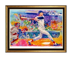 LeRoy Neiman Serigraph Ted Williams Splendid Splinter Large Signed Baseball Art