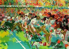 Leroy Neiman Silverdome Superbowl Hand Signed & Numbered Serigraph