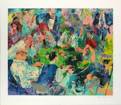 """Leroy Neiman """"Stud Poker"""" hand signed and numbered serigraph"""