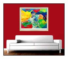 LeRoy Neiman The Rocket Roger Clemens Large Sports Serigraph Signed Baseball Art