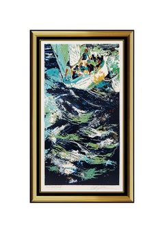 LeRoy Neiman Twelve Meter Yacht Race Color Serigraph Hand Signed Sailing Artwork