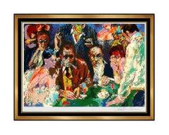 LeRoy Neiman Vegas Blackjack Color Serigraph Hand Signed Casino Large Artwork