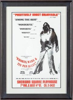 LeRoy Neiman Whores, Wars & Tin Pan Alley Ltd Poster Alvin Epstein
